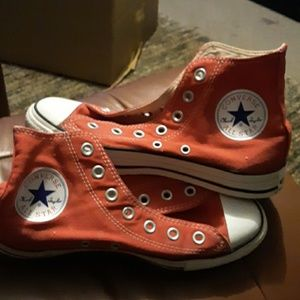 Converse girls or boys red sneakers...Chuck Taylor